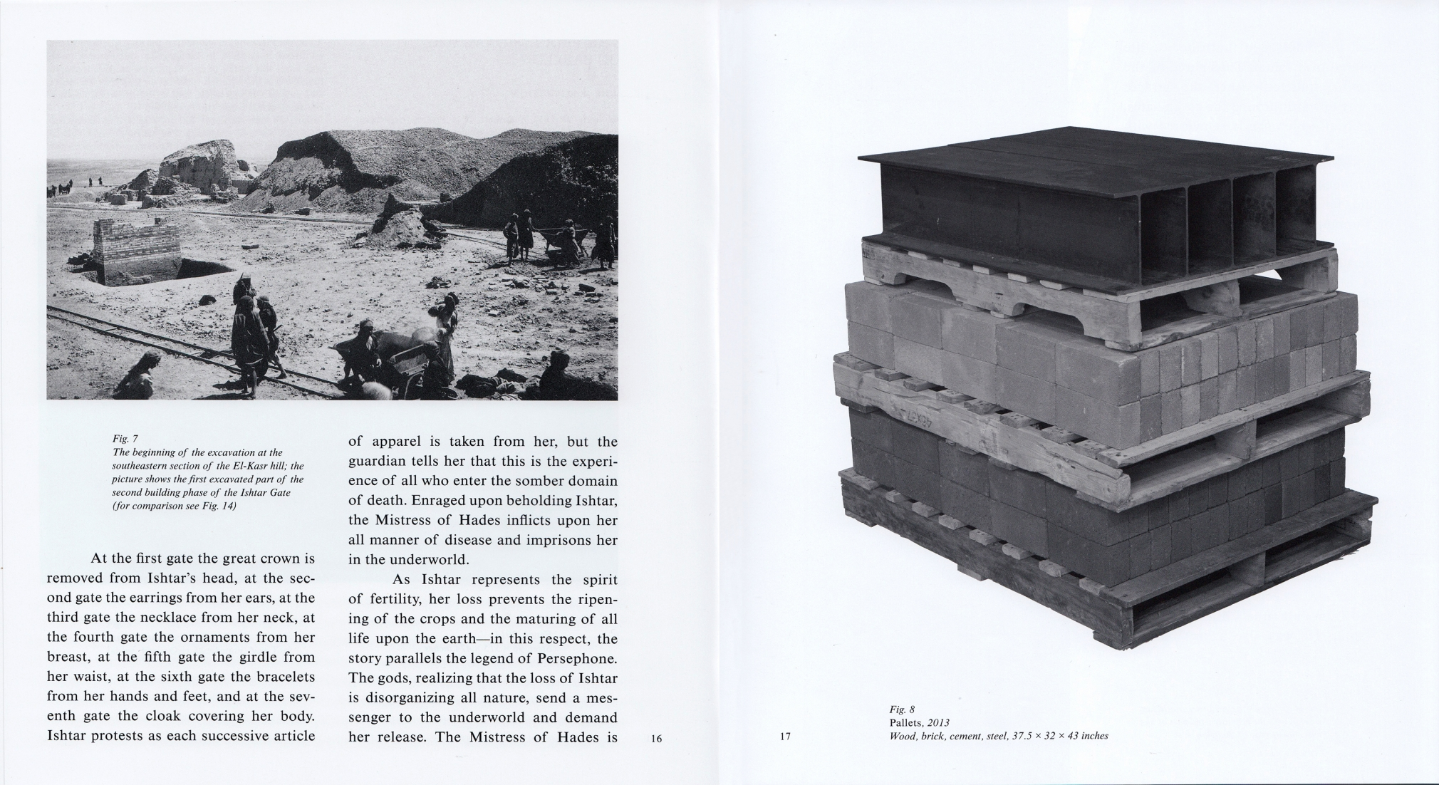 Interior view of Charles Harlan: ISHTAR, published by Karma, New York, 2014