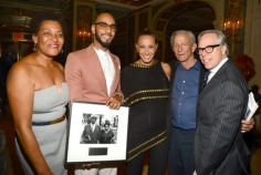 "Carrie Mae Weems, Kasseem ""Swizz Beatz"" Dean, Donna Karan, and Peter Beard were this years honorees. Seen here with Tommy Hilfiger."