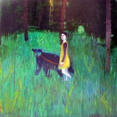 """Dominique Fortin """"Promenade de nuit"""" Galerie LeRoyer"""