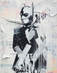 "Stikki Peaches ""BatBond - Off the Wall"" Galerie LeRoyer"