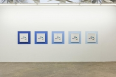 Kamrooz Aram, Ancient Blue Ornament: Still Life with Bottle, 2016 - 2018, Framed archival pigment prints on painted wall, Semi-unique edition of 5 with one Artist Proof of all 5, Each framed photograph: 52.55 x 52.55 cm