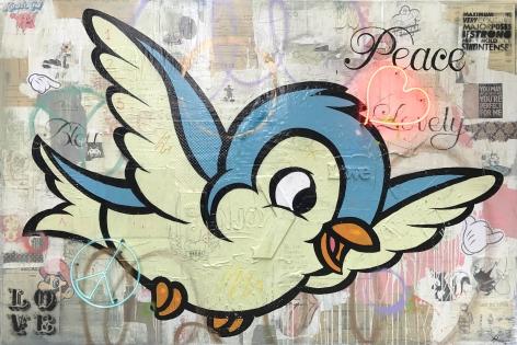"Rock Therrien ""Peace & Love 1"" Galerie LeRoyer"