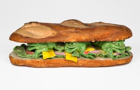 David Gilhooly Frog Submarine Sandwich, 1975