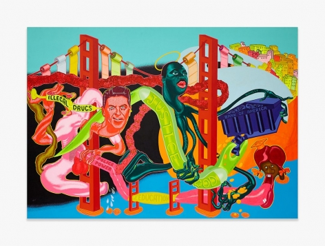 """Peter Saul, """"The Government of California,"""" 1969."""