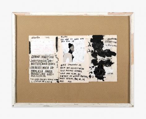 Franz West Untitled (Die Welt ist alles, was der Fall ist), 1977