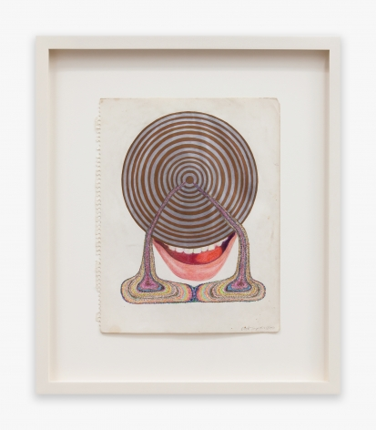 Betty Tompkins Double Drip Mouth, 1971