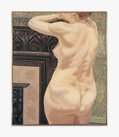 Philip Pearlstein Female Model Leaning on Mantel, 1974