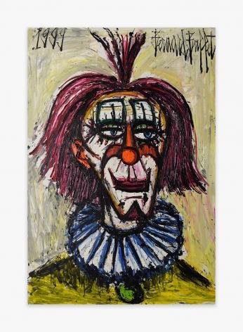 Bernard Buffet Clown à la collorette bleue, 1999