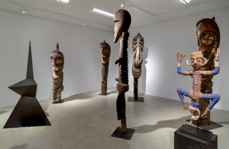 Installation view of Calder Crags + Vanuatu Totems from the Collection of Wayne Heathcote, New York, Venus Over Manhattan