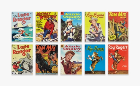 Various Western Comic Books   Annie Oakley, Lone Ranger, Roy Rogers, Tom Mix