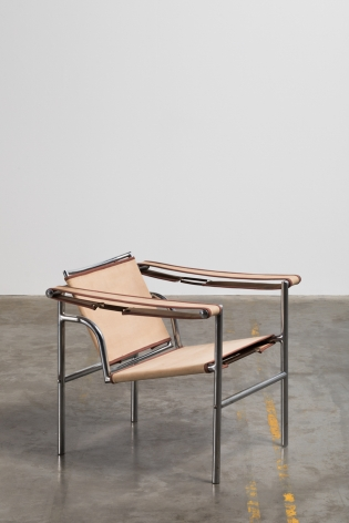 Le Corbusier, Pierre Jeanneret + Charlotte Perriand Fauteuil chrome tubulaire, Édition Thonet