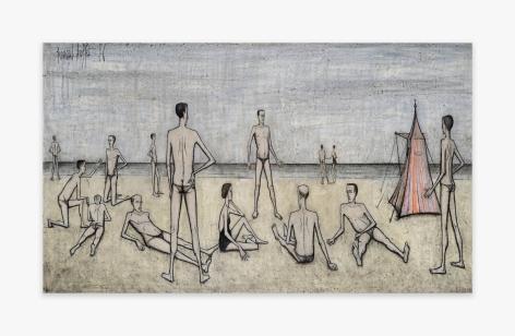 Bernard Buffet La plage, 1956