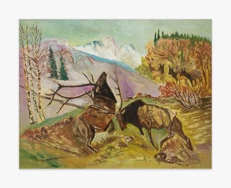 Gladys Johnston Battling Elk, n.d.