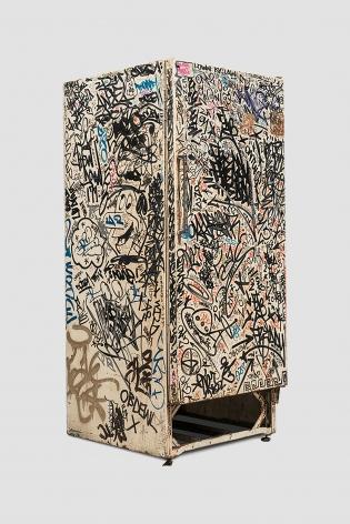 Jean-Michel Basquiat, Keith Haring + Others Untitled (Fun Fridge), 1982