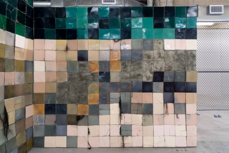 Andra Ursuta Stoning Wall (Bad, Bad Painting 2)