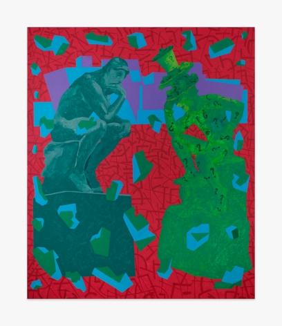 Derek Boshier The Los Angeles Art Collectors - Mr + Mrs Rodin-Riddler