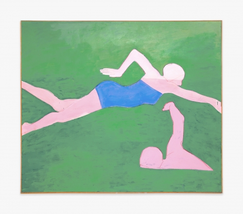 Joan Brown The Swimmers #2 (The Crawl), 1974