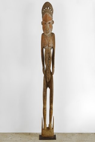 Wooden Statue, Sawos People, Sepik River, Papau New Guinea