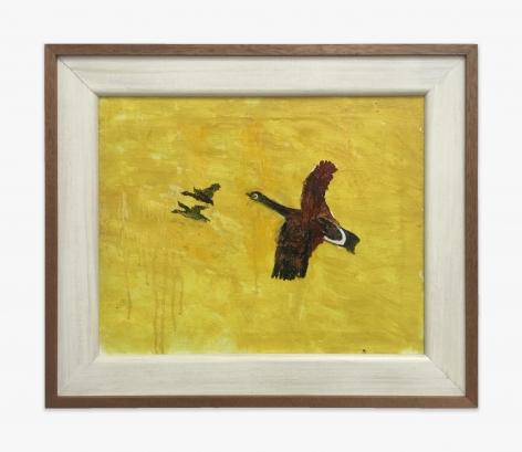 Gladys Johnston Three Geese on Yellow Ground, 1982