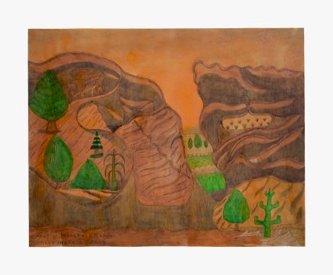 Joseph Elmer Yoakum Foot of Mountain Range Near Madrid Spain, c. 1963-1964