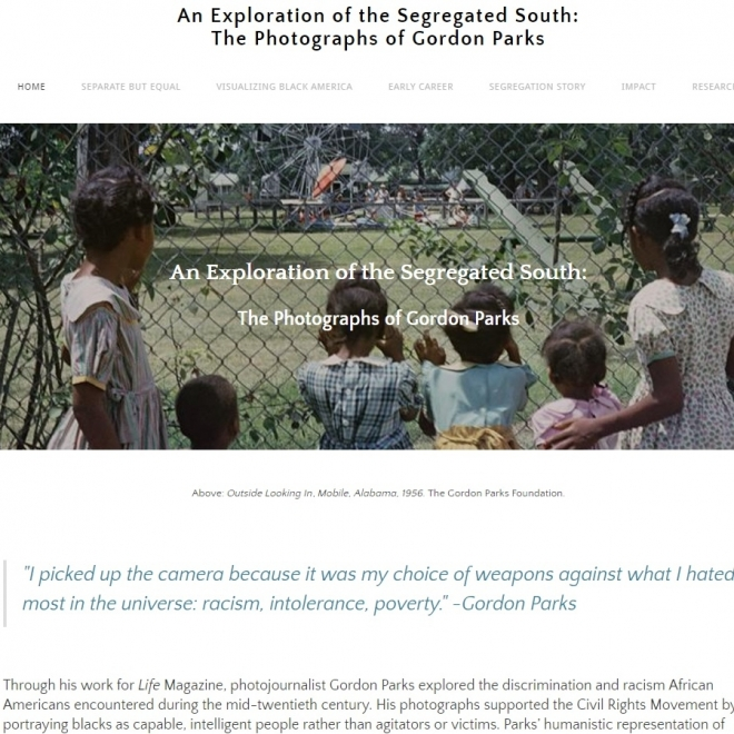 Grant Awarded to Support a Student's Gordon Parks Project
