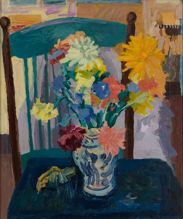 Nell Blaine Summer Bouquet and Chair, 1963