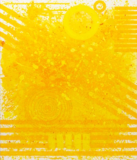 J. Steven Manolis, Sunshine (72.60.02), #2 sunshine series, 2020, acrylic and latex enamel on canvas, 72 x 60 inches, For sale at Manolis Projects Art Gallery, Miami Fl
