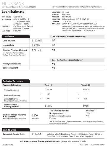 loan estimator mortgage