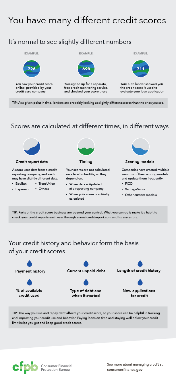 You have many different credit scores infographic