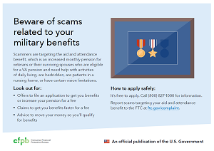 Beware of scams related to your military benefits