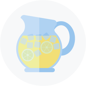 Illustration of a pitcher of lemonade