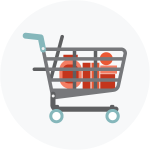 Illustration of a shopping cart