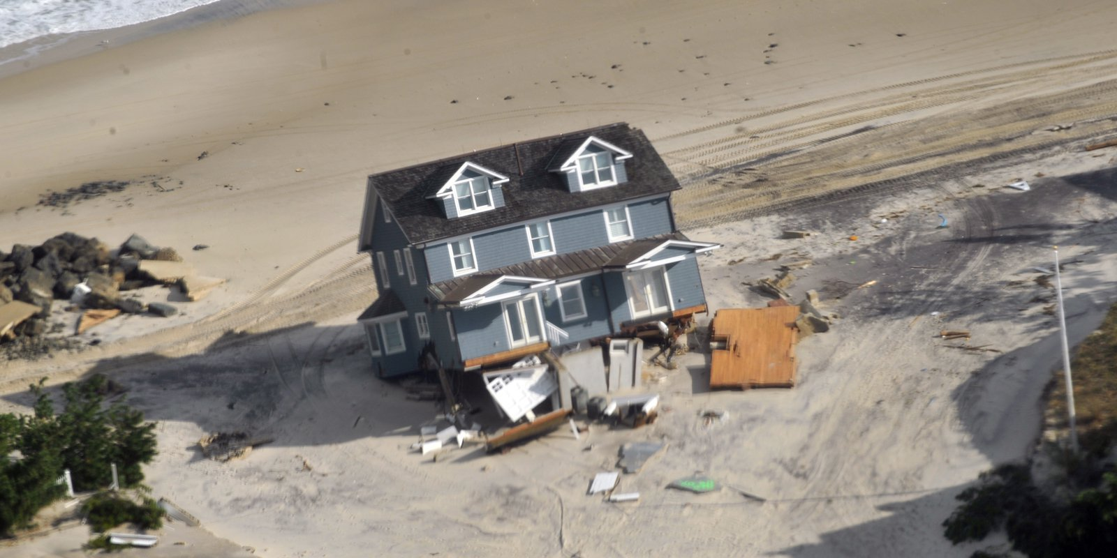 Home damage on the Jersey Shore after Hurricane Sandy