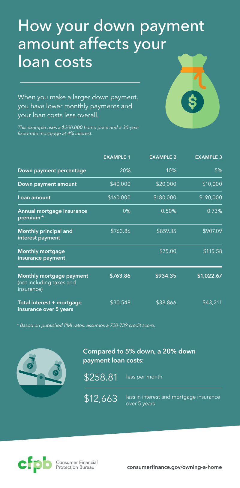 How to choose the down payment that's right for you infographic