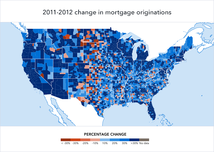 2012 loan volumes change