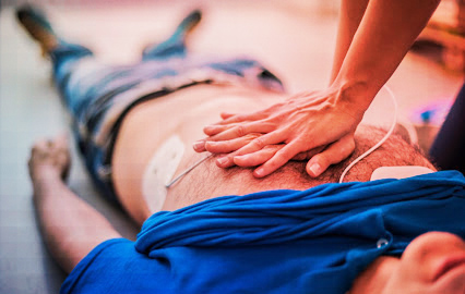 Picture of person performing CPR