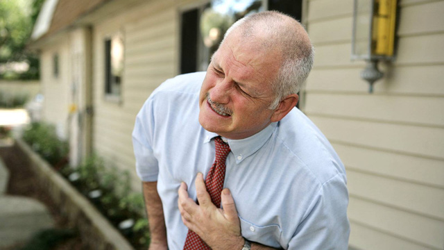 Older man having cardiac arrest