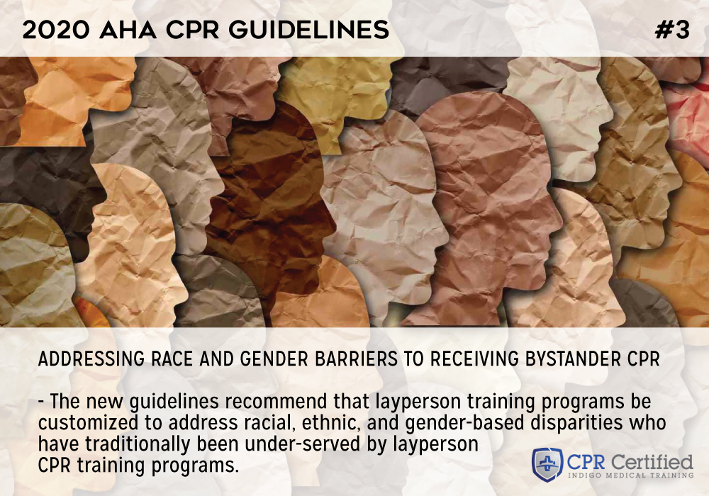Addressing race and gender barriers to receiving bystander CPR - 2020 AHA Guidelines CPRCertified