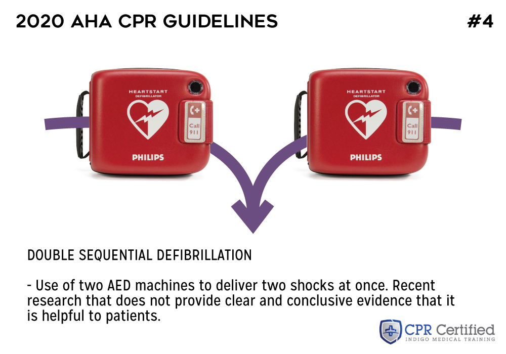 Double sequential defibrillation - 2020 AHA Guidelines CPRCertified