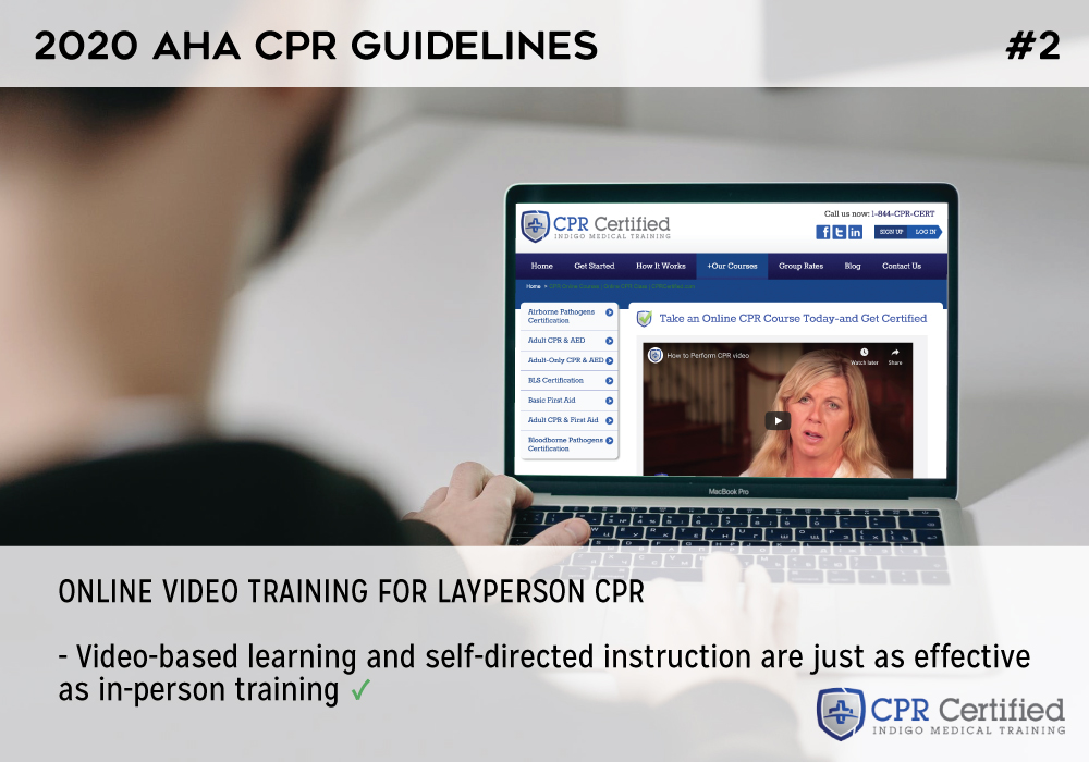 Online video training for layperson CPR - 2020 AHA Guidelines CPRCertified