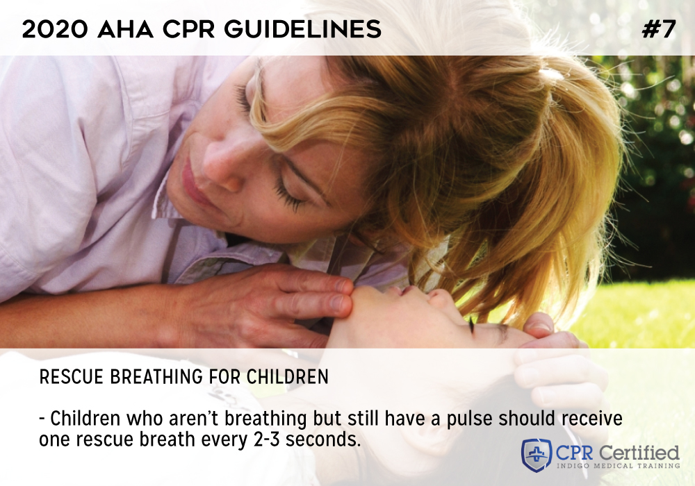 Rescue breathing for children who still have a pulse - 2020 AHA Guidelines CPRCertified