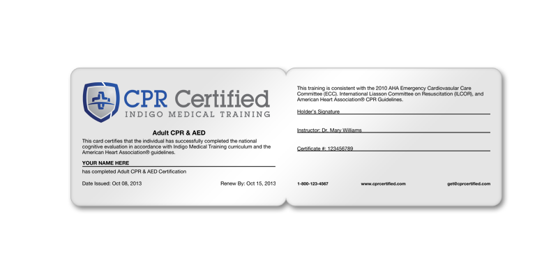 Cpr Certification Card Recertification Cards Cprcertified