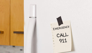 emergency number on fridge