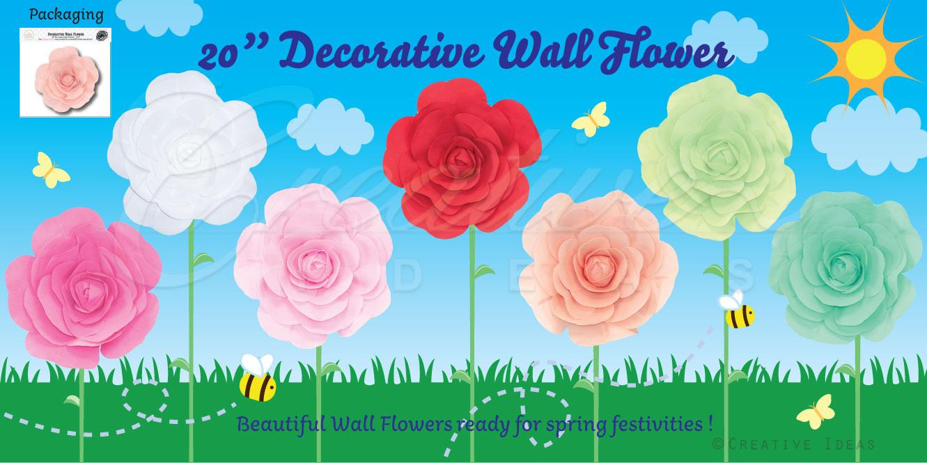 inch decorative wall flower