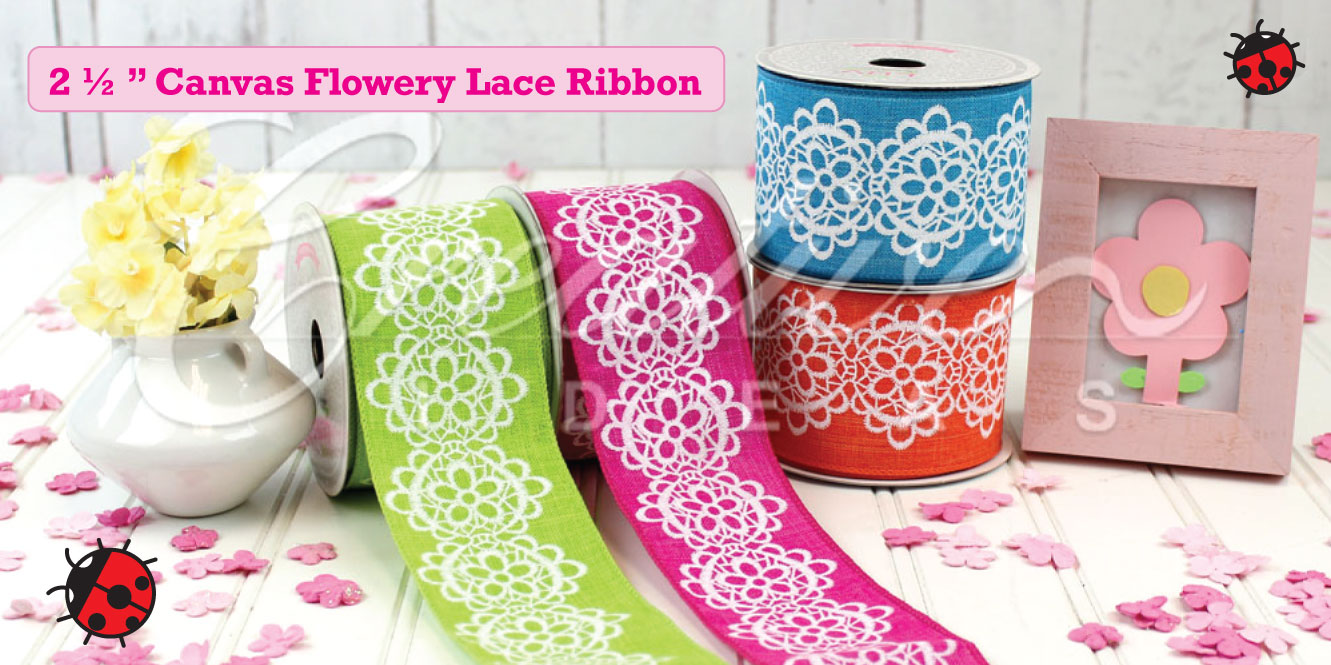 canvas lace ribbon