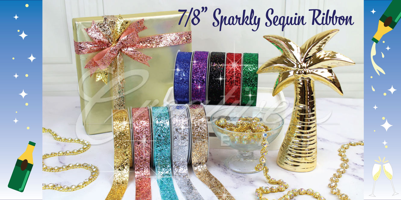 sparkly sequin ribbon
