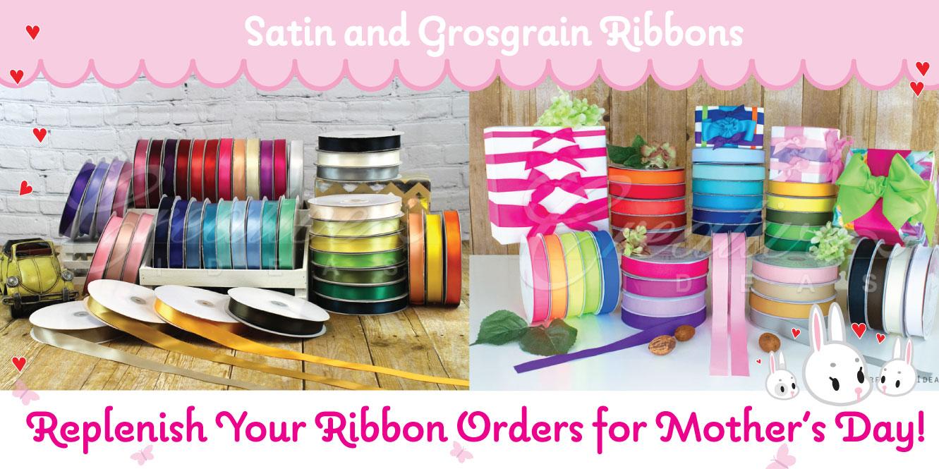 satin and grosgrain ribbons
