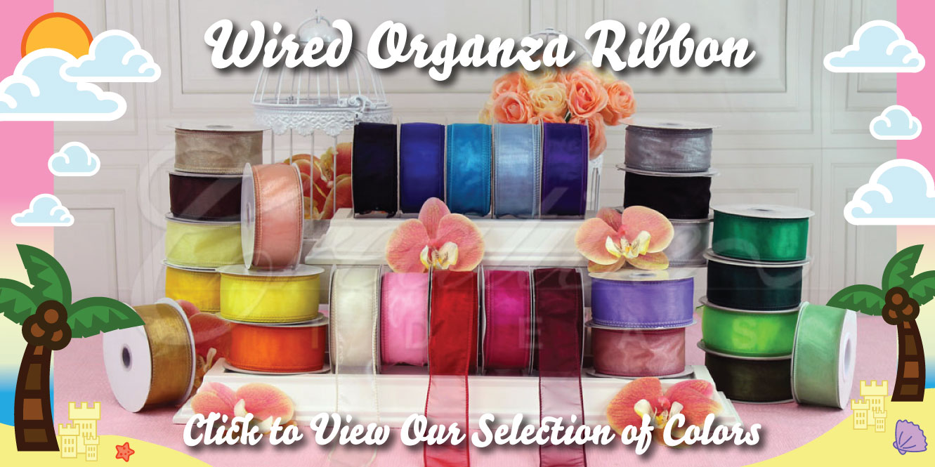 Wired Organza Ribbons Creative Ideas Wholesale