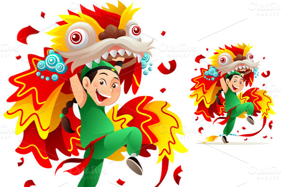 Barongsai illustrations on creative market