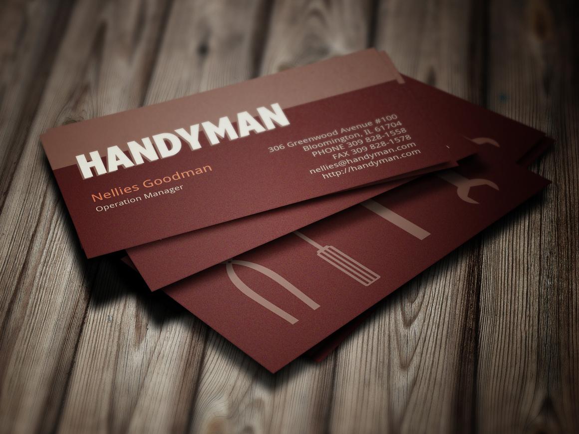 handyman toolkit business card